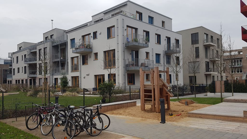 Neubau eines Mehrfamilienhauses mit Gemeinschaftsräumen im Passivhausstandard