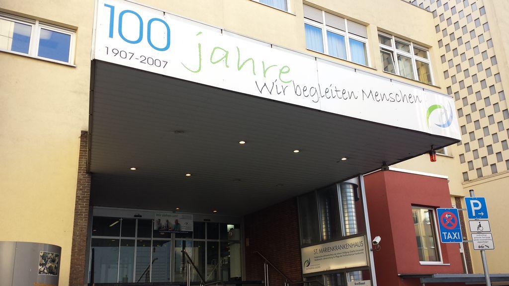 Umzug des St. Marienkrankenhauses aus Frankfurt-Nordend in den Neubau am St. Elisabethen-Krankenhaus in Frankfurt-Bockenheim