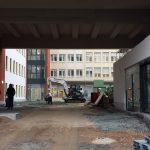 Innenhof des St. Elisabethen-Krankenhauses