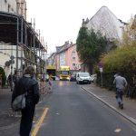 Provisorische Rettungswagenzufahrt am St. Elisabethen-Krankenhaus