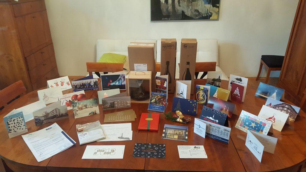Ihre Weihnachts-Grußkarten an uns (Auszug)