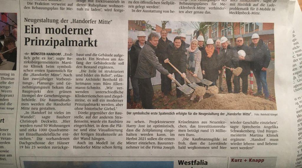 """WN-Zeitungsartikel """"Ein moderner Prinzipalmark"""""""